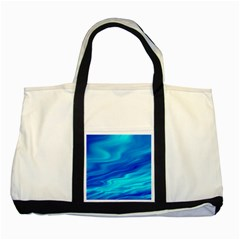 Blue Two Toned Tote Bag