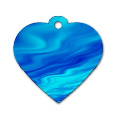 Blue Dog Tag Heart (Two Sided)