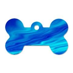 Blue Dog Tag Bone (two Sided)
