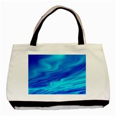 Blue Twin-sided Black Tote Bag