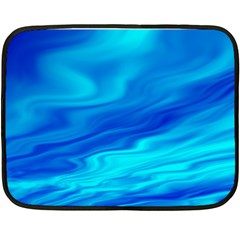Blue Mini Fleece Blanket (two Sided)