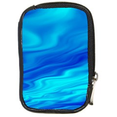 Blue Compact Camera Leather Case