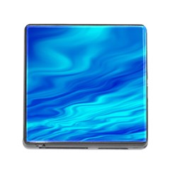 Blue Memory Card Reader with Storage (Square)