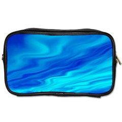 Blue Travel Toiletry Bag (two Sides)