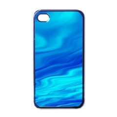 Blue Apple iPhone 4 Case (Black)