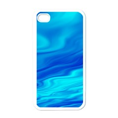 Blue Apple iPhone 4 Case (White)