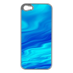 Blue Apple iPhone 5 Case (Silver)