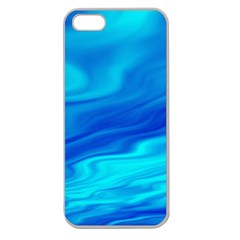 Blue Apple Seamless iPhone 5 Case (Clear)