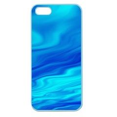 Blue Apple Seamless Iphone 5 Case (color)