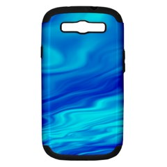 Blue Samsung Galaxy S III Hardshell Case (PC+Silicone)