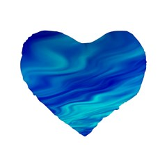 Blue 16  Premium Heart Shape Cushion
