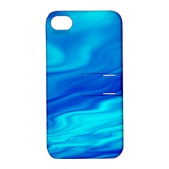 Blue Apple Iphone 4/4s Hardshell Case With Stand
