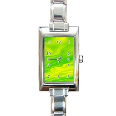 Green Rectangular Italian Charm Watch