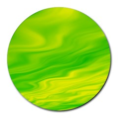 Green 8  Mouse Pad (Round)