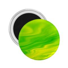 Green 2.25  Button Magnet