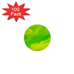 Green 1  Mini Button (100 Pack)