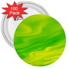 Green 3  Button (100 pack)