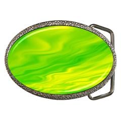 Green Belt Buckle (Oval)