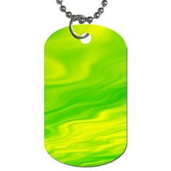 Green Dog Tag (two Sided)