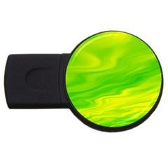 Green 2GB USB Flash Drive (Round)