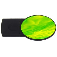 Green 2GB USB Flash Drive (Oval)
