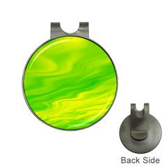 Green Hat Clip with Golf Ball Marker