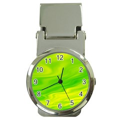 Green Money Clip with Watch