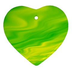 Green Heart Ornament (two Sides)