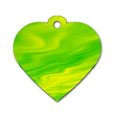 Green Dog Tag Heart (One Sided)