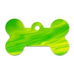 Green Dog Tag Bone (Two Sided)
