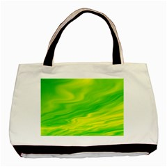 Green Twin Sided Black Tote Bag