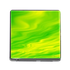 Green Memory Card Reader with Storage (Square)
