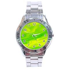Green Stainless Steel Watch (Men s)