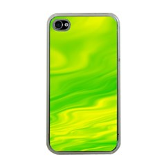Green Apple iPhone 4 Case (Clear)
