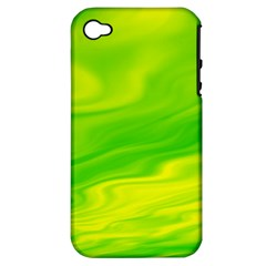 Green Apple iPhone 4/4S Hardshell Case (PC+Silicone)