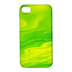 Green Apple iPhone 4/4S Hardshell Case with Stand
