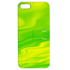 Green Apple Iphone 5 Hardshell Case With Stand