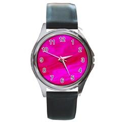 Design Round Metal Watch (Silver Rim)