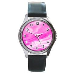 Background Round Metal Watch (silver Rim)