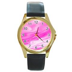 Background Round Metal Watch (gold Rim)