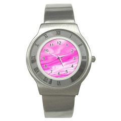 Background Stainless Steel Watch (Unisex)