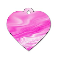 Background Dog Tag Heart (one Sided)