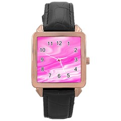 Background Rose Gold Leather Watch
