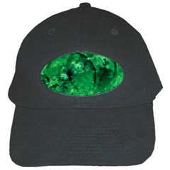 Green Bubbles Black Baseball Cap