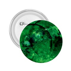 Green Bubbles 2.25  Button
