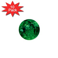 Green Bubbles 1  Mini Button Magnet (10 pack)