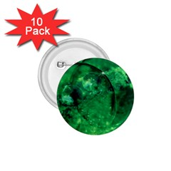 Green Bubbles 1.75  Button (10 pack)