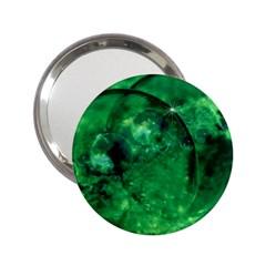 Green Bubbles Handbag Mirror (2 25 )