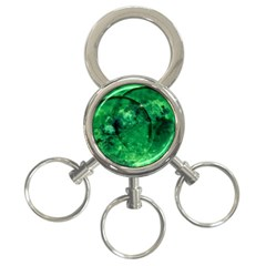 Green Bubbles 3-Ring Key Chain