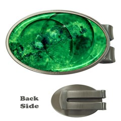 Green Bubbles Money Clip (Oval)